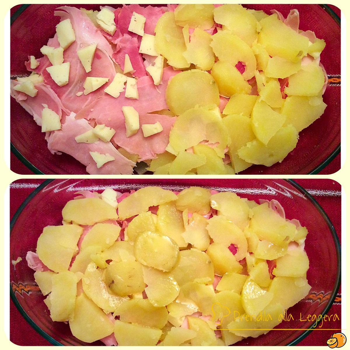 Sformato di patate, prosciutto cotto e Asiago