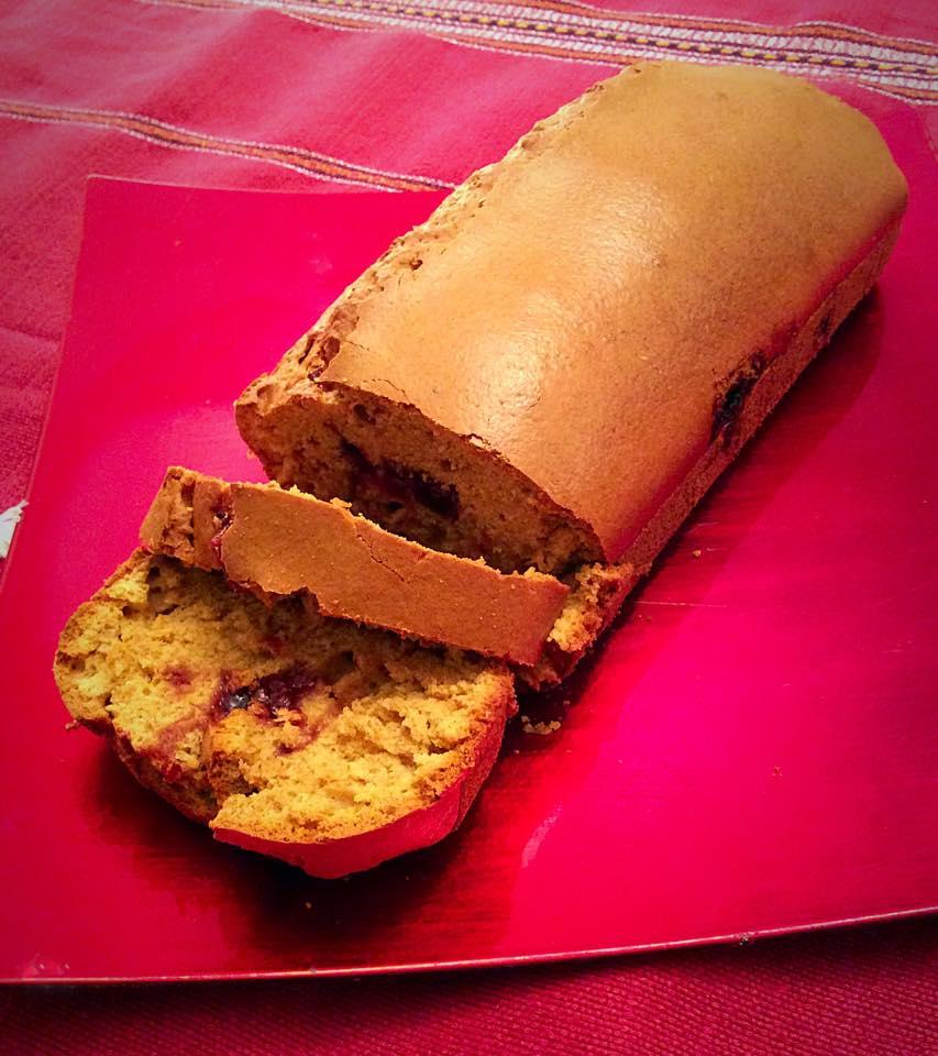 Plumcake integrale con marmellata di amarene