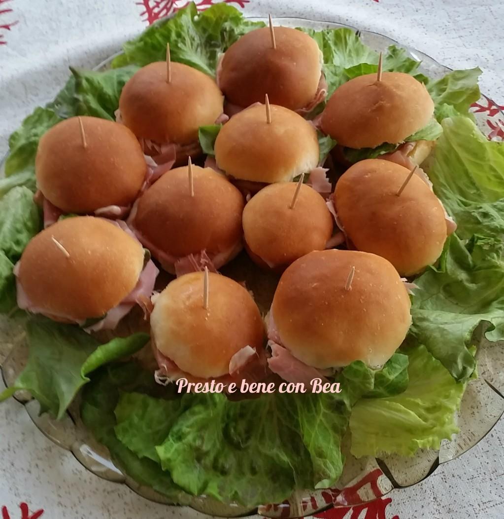 Panini buffet con e senza bimby