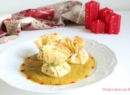 Fagottini di crepes ripieni ai formaggi