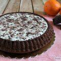 Crostata morbida al cacao con crema di ricotta arancia e cioccolato