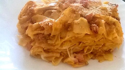 Crostata Di Tagliatelle Con Besciamella