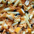 Pennette con carote e surimi | Pasta fredda