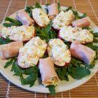 Pomodori e prosciutto cotto ripieni di insalata russa