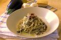 Spaghetti con Acciughe e Melanzane