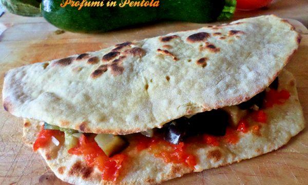 Piadina Vegana Peperoni, Melanzane, zucchine