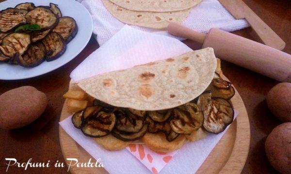 Piadina Vegana Melanzane e Patate