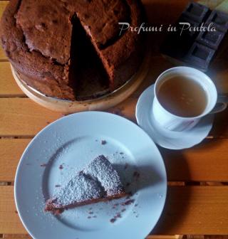 torta al cioccolato con farina di riso, torta senza glutine
