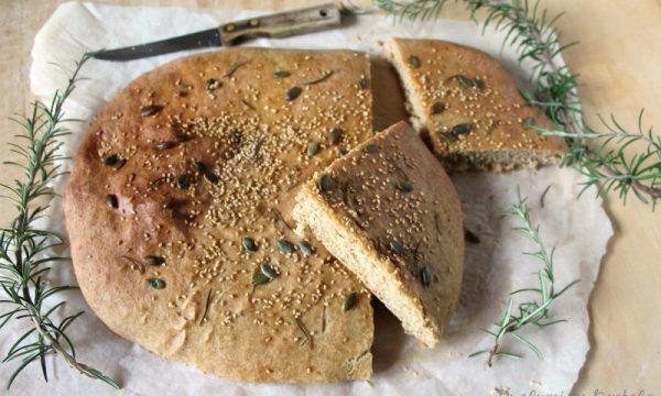 Focaccia con farine di Kamut e Farro spelta