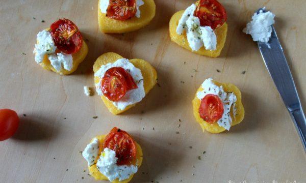Antipasto di Polenta, Ricotta e Pomodorini