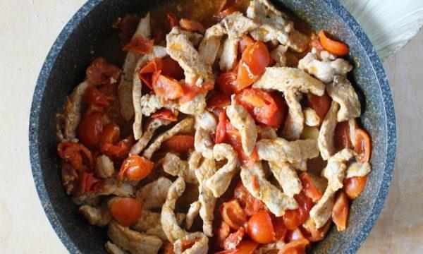 Straccetti di Carne con Pomodorini