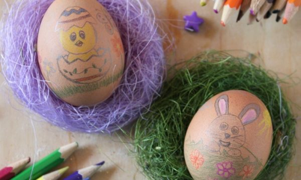 Uova Sode Decorate per Pasqua