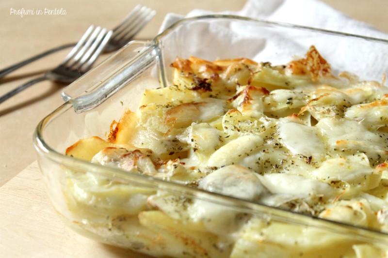 millefoglie di patate e cipolle