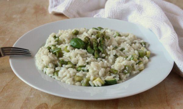 Risotto Asparagi, Zucchine e Ricotta