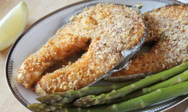 Salmone in crosta di Nocciole