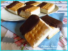 BISCOTTO GELATO PANNA E CIOCCOLATO (senza gelatiera)