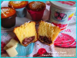 muffin al cioccolato bianco e nutella