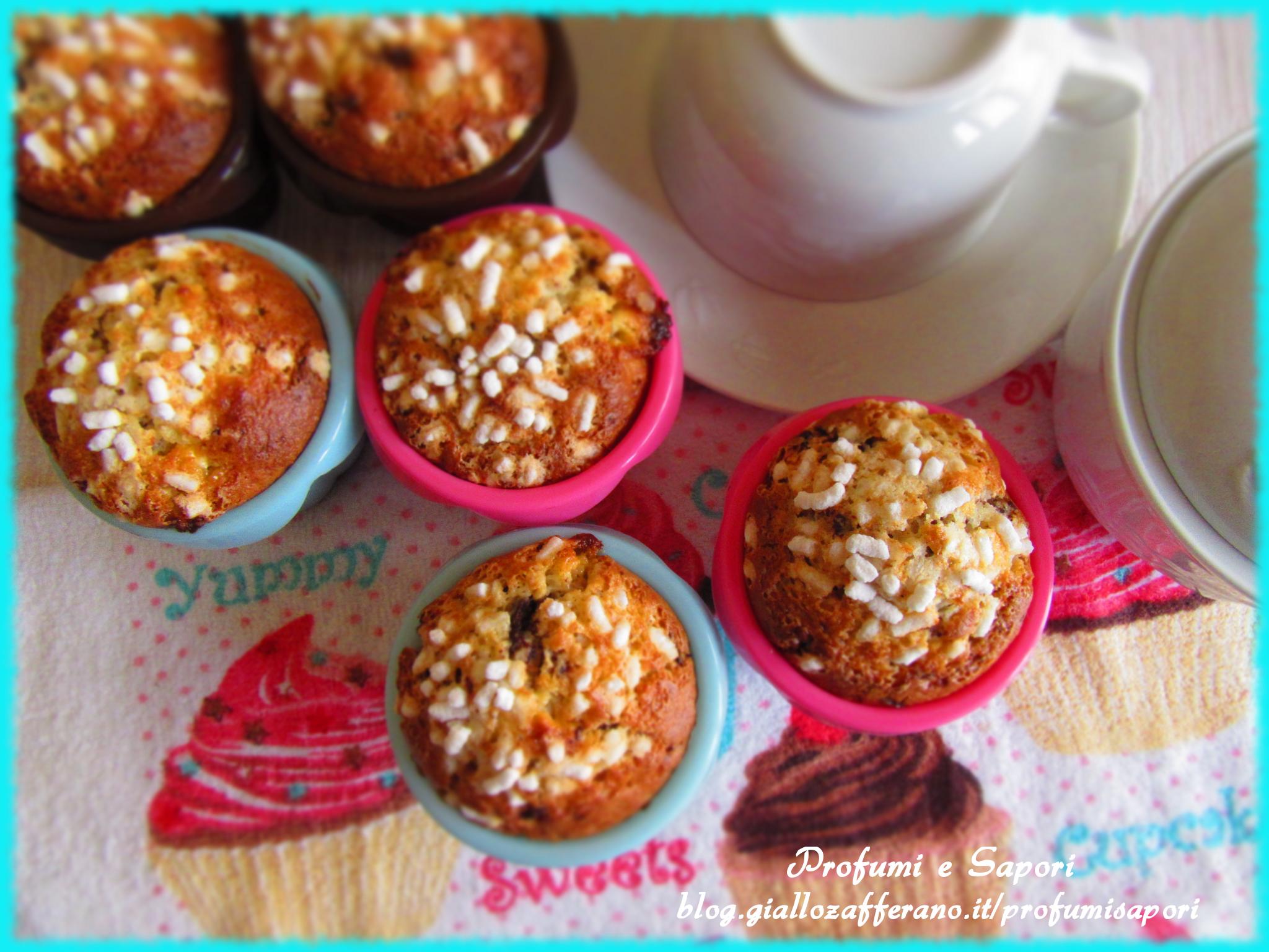 muffin al mascarpone e cioccolato