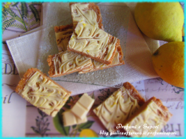 barrette al limone e cioccolato bianco