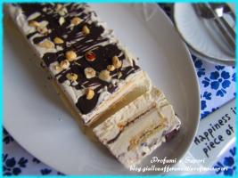 tronchetto gelato alla nutkao e cioccolato