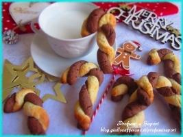 biscotti candy cane al cacao