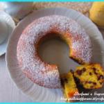 CIAMBELLA CON FARINA DI MAIS E GOCCE DI CIOCCOLATO (dolce soffice da colazione)