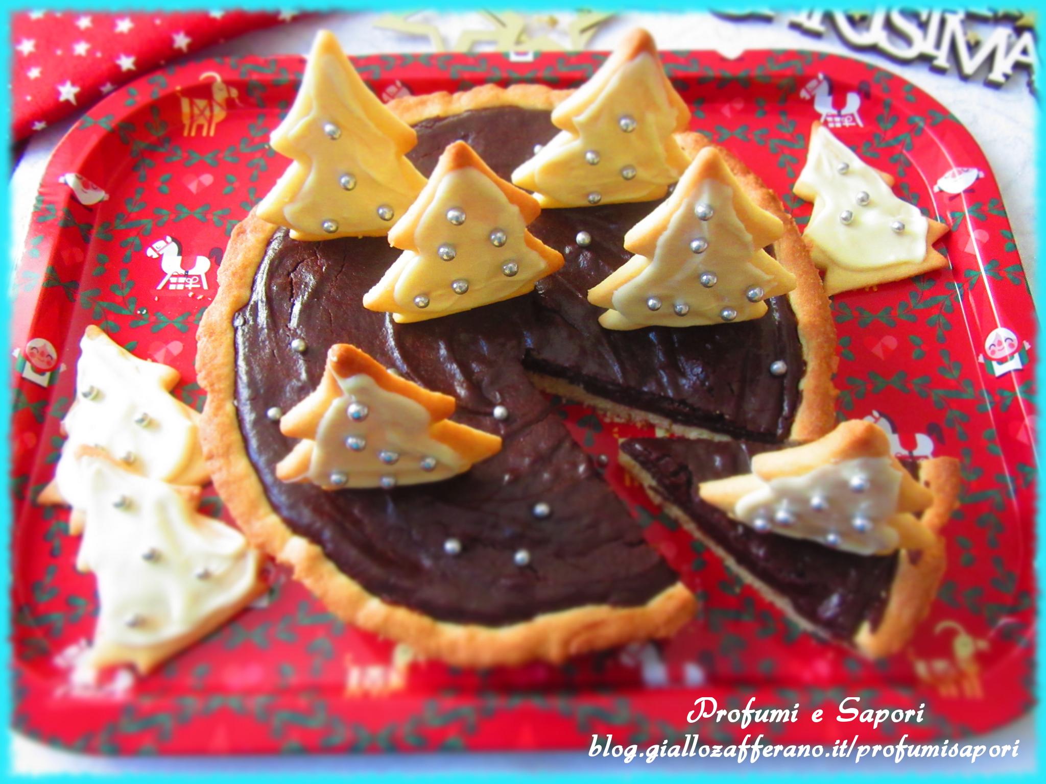 crostata natalizia al cioccolato