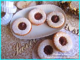 biscotti occhio di bue alla nutella