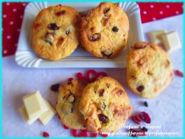 cookies ai frutti rossi e cioccolato bianco