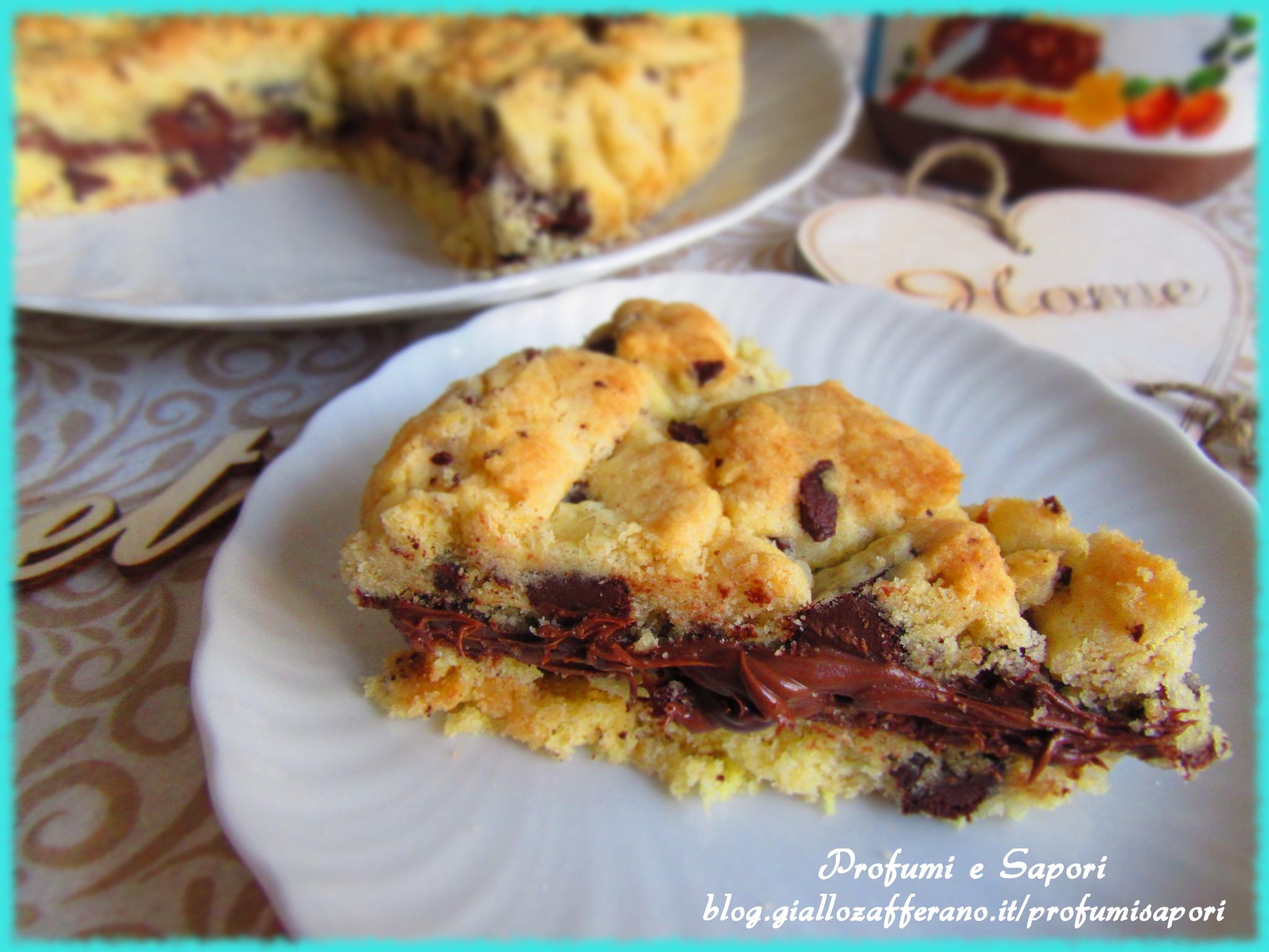 torta cookies cuore di nutella senza glutine