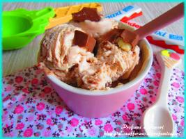 gelato al cioccolato kinder