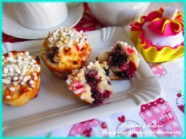 muffin frutti di bosco e cocco