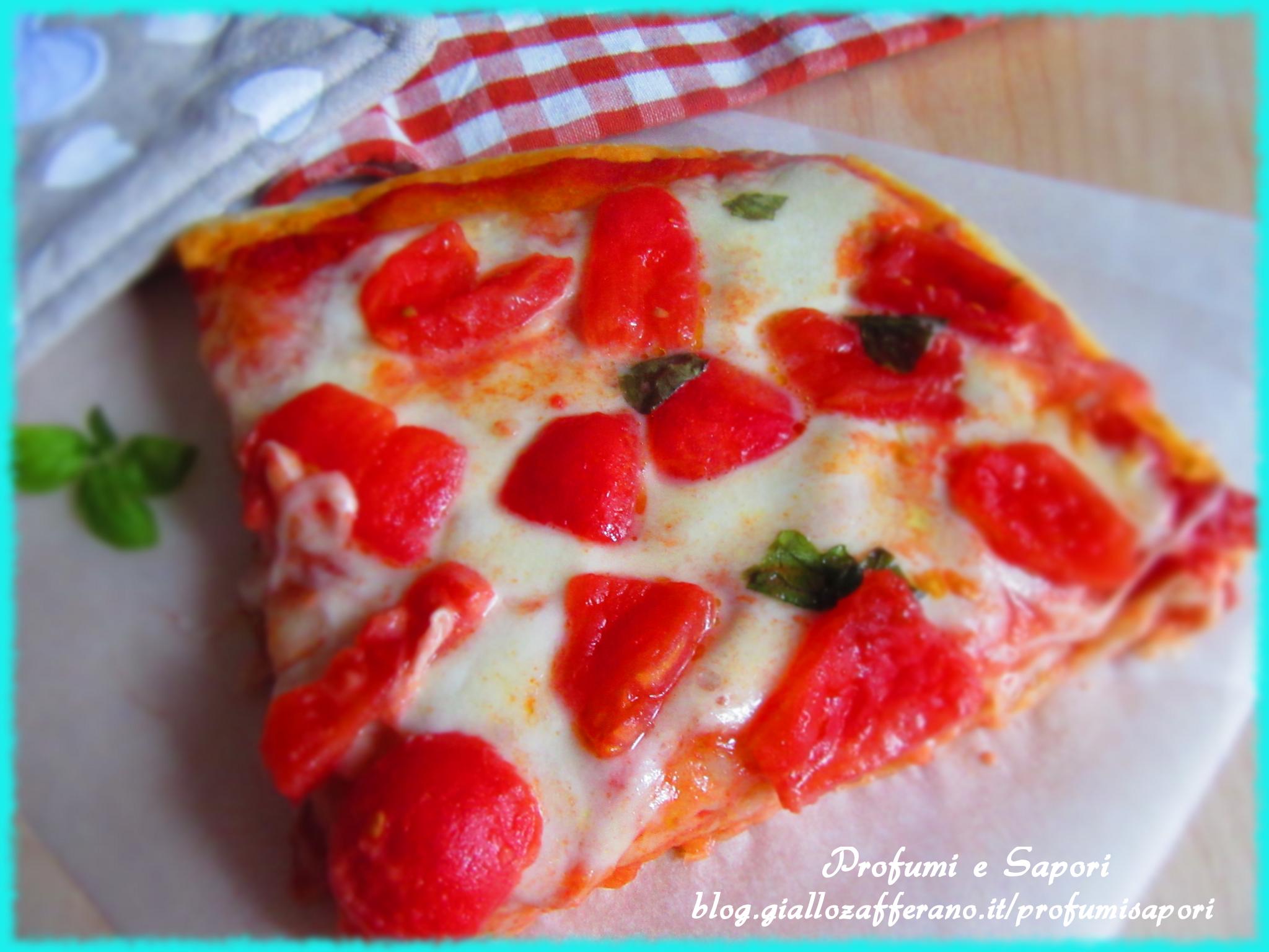 pizza in teglia alta e soffice
