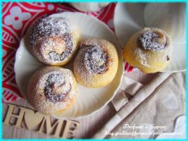 chiocciole di pan brioche alla nutella