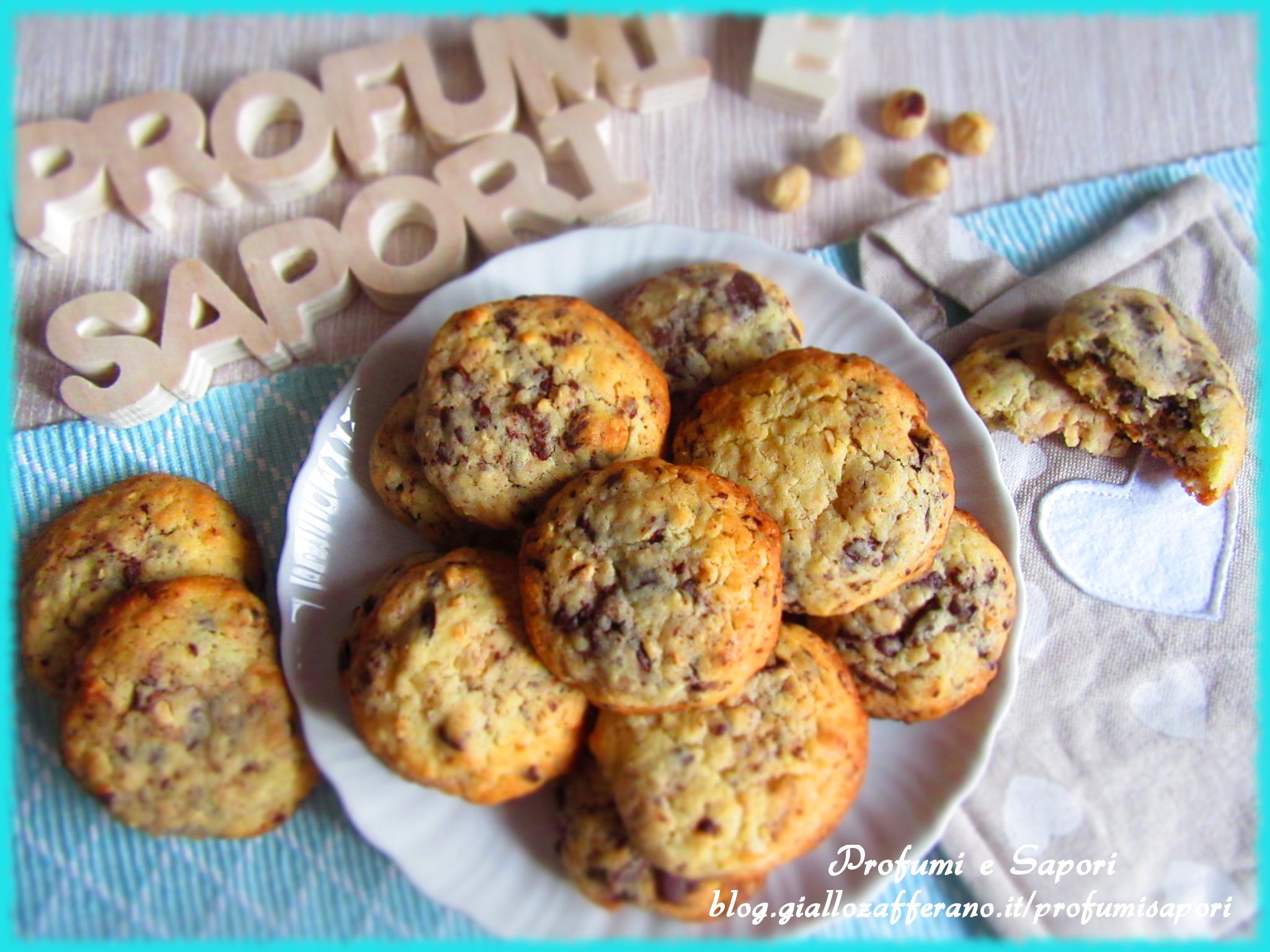 cookies nocciole e cioccolato