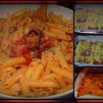 penne o spaghetti con pomodorini gratinati al forno