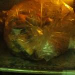 pollo e verdure in busta al forno