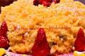 la mia mimosa primaverile con fragoloni
