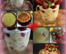 "coppa crema chantilly, fragole e…. ""torta 7 vasetti"""
