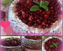 torta dei 7 vasetti con crema chantilly e fragoline di bosco per gli auguri a tutte le mamme del mondo