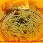 """pasta con la """"cucuzza""""fritta e ricotta salata"""