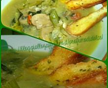 """zuppa di verdure con crostini"""" alla Parodi"""" cioè velocissima!"""