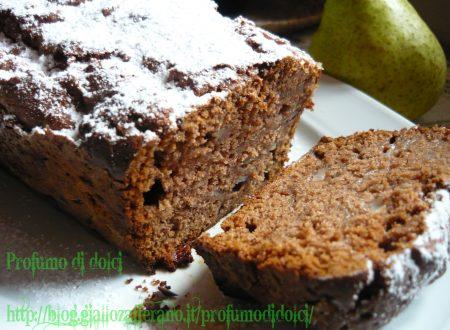 Plum cake alle pere e cioccolato