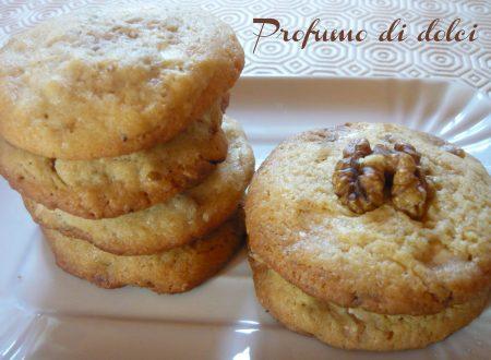 Cookies alle noci e cioccolato bianco