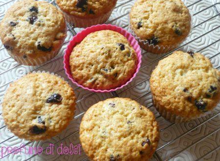 Muffin ai mirtilli rossi essicati