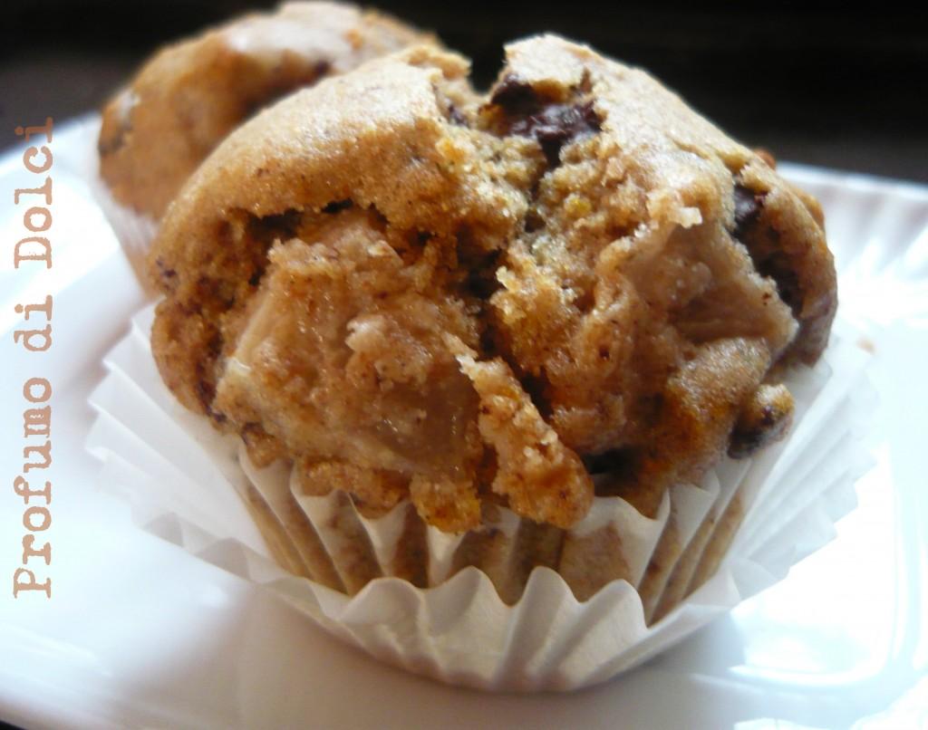muffin farro pere e cioccolato