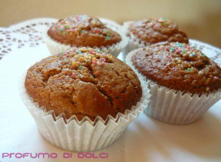 Muffin allo yogurt greco e cioccolato al latte