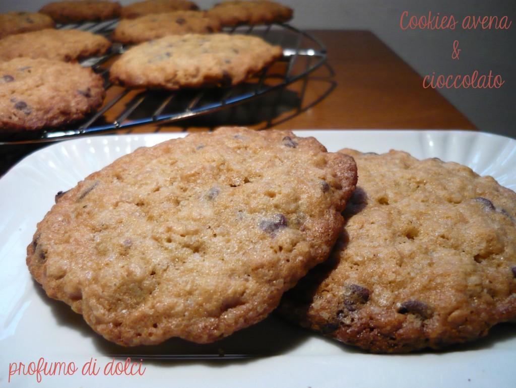 cookies avena e cioccolato