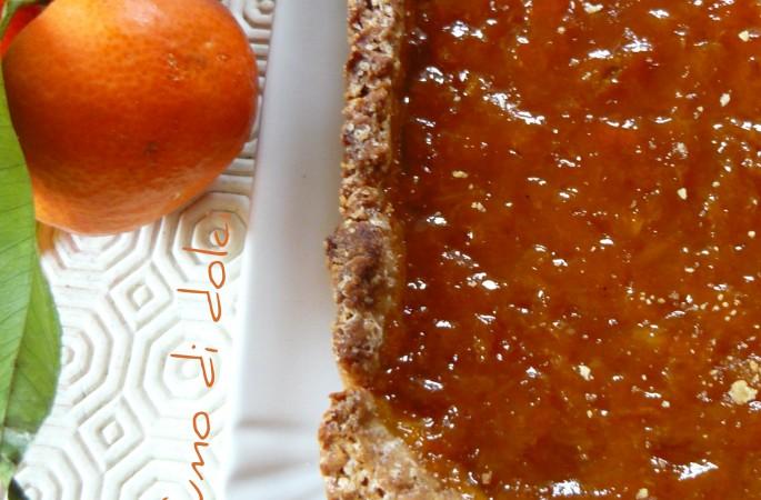 Crostata di frolla all'olio alle clementine