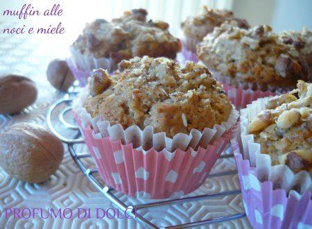 Muffin alle noci e miele